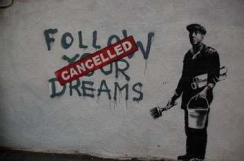 Bansky in Boston -  Follow your dreams
